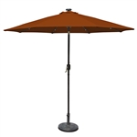 9 Foot Patio Umbrella with Terra Cotta Polyester Fabric Shade