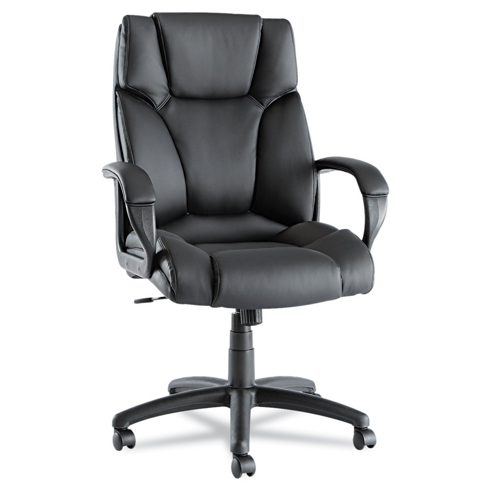 High-Back Swivel Tilt Black Soft Touch Leather Office Chair