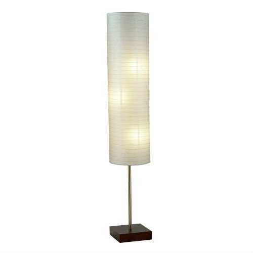 Modern asian style floor lamp with white rice paper shade modern asian style floor lamp with white rice paper shade aloadofball Images