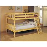 天然轻木饰面带梯子的双层床