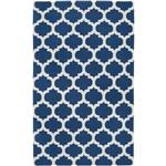 x平织羊毛区地毯手工制作的蓝白色格子图案