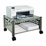 Mobile Heavy Duty Under-desk Printer Stand in Matte Gray