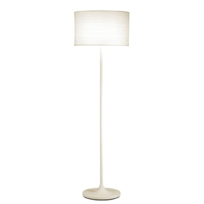 Modern Floor Lamp with White Paper Drum Shade