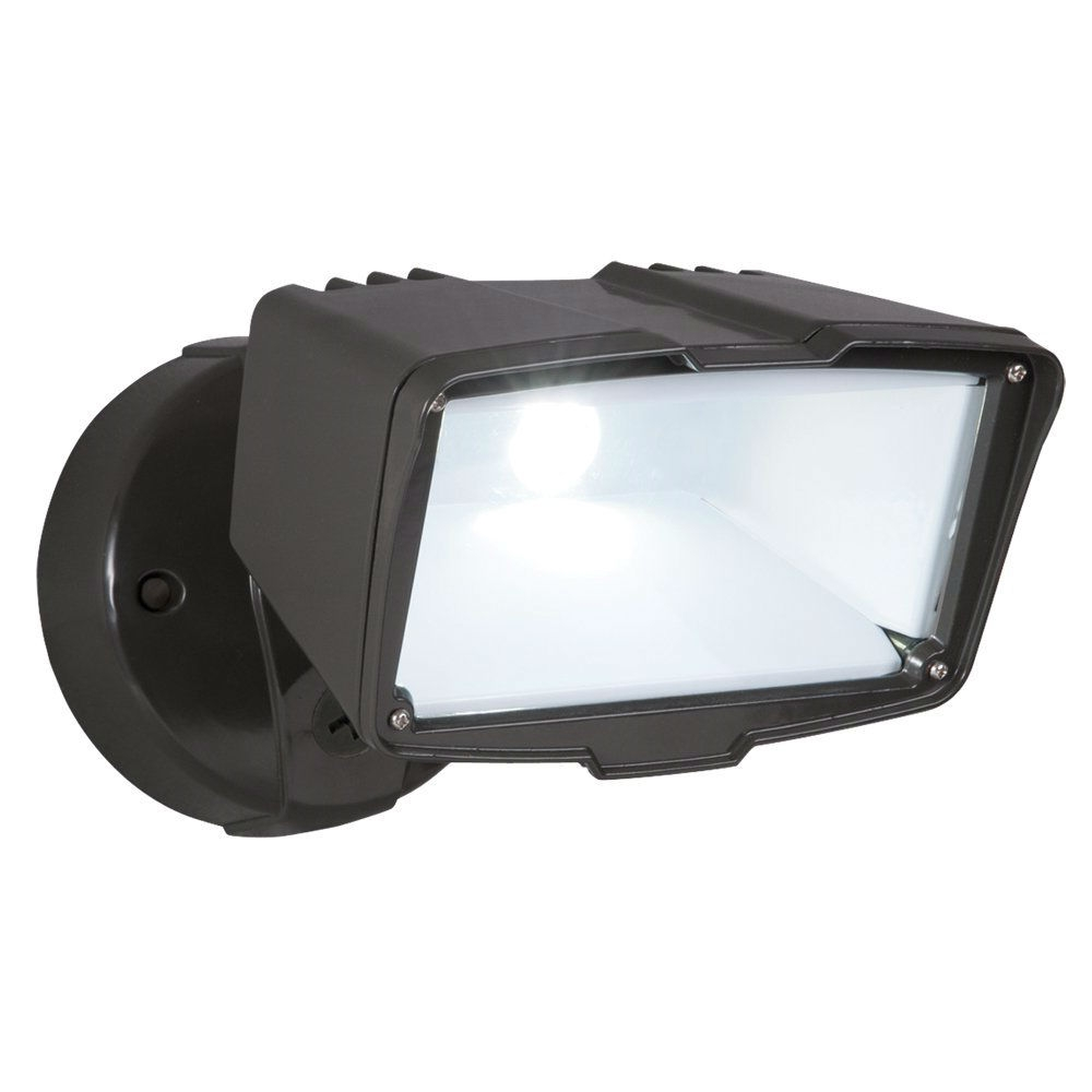 Outdoor LED Floodlight Security Light Energy Efficient in Bronze Finish