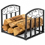 Wrought Iron Filigree Small Firewood Log Stacking Rack