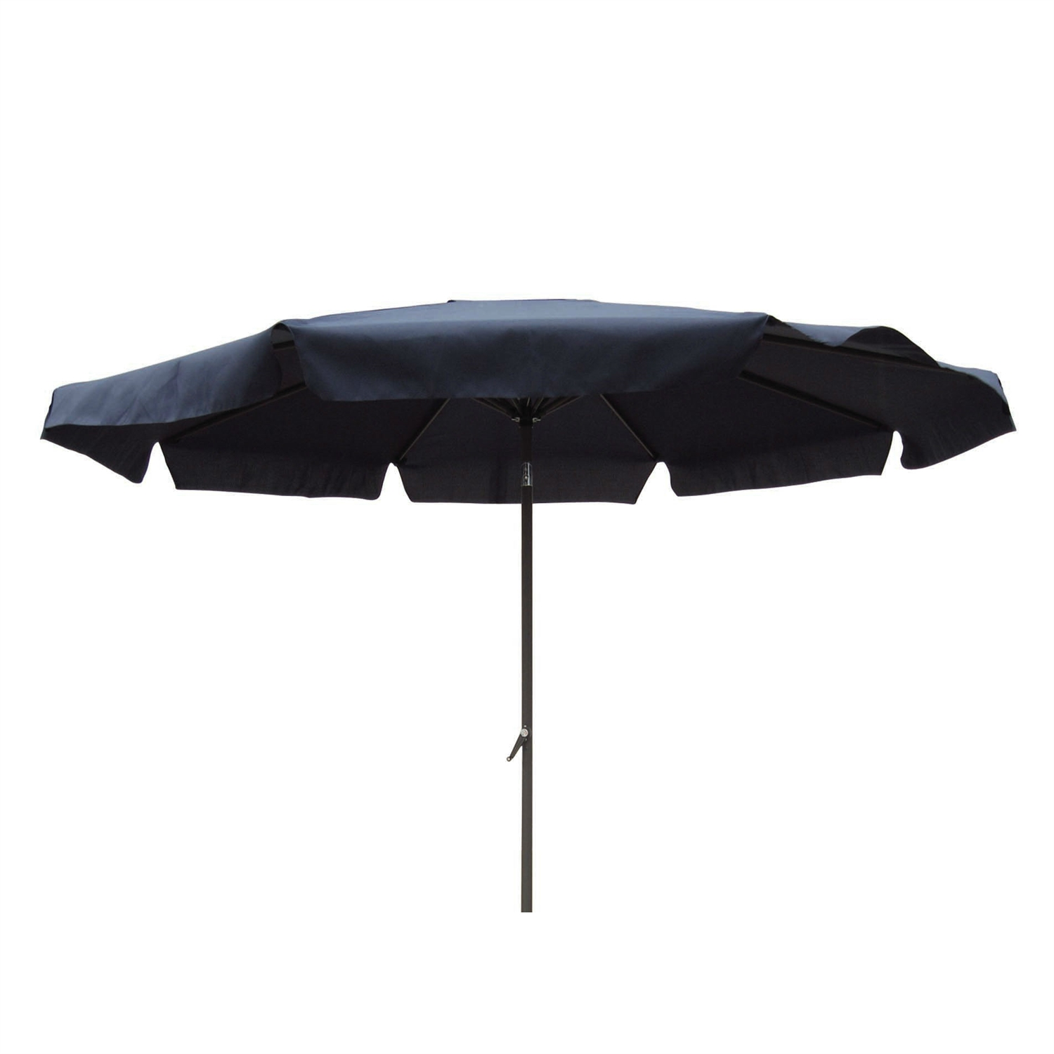Black Polyester 8 Ft Patio Umbrella With Aluminum Pole And Crank Tilt