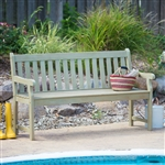 Weather Resistant Outdoor Wood 5-Ft Garden Bench in Driftwood Finish