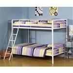 双床间双层床,带梯子,白色金属涂层