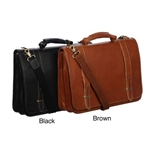 Top Grain Leather Traditional Double Slip-In Executive Briefcase