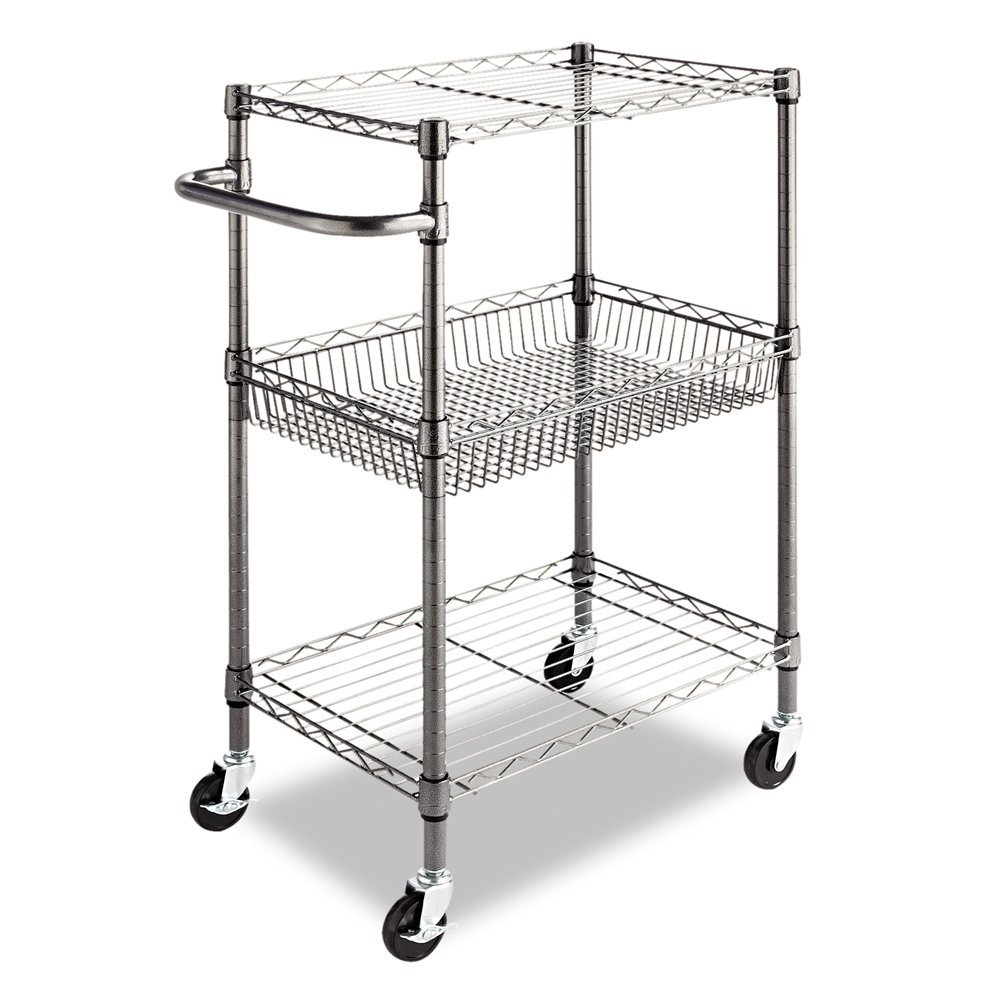 silver metal interior design frame ideas cart rolling fancy for as furniture comely kitchen
