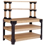 Workbench Shelving Unit Potting Bench Storage System - 2x4 Lumber Not Included