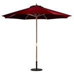 9-FT Market / Patio Umbrella with Burgundy Canopy