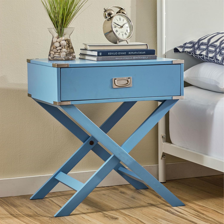 Modern Bedroom End Tables modern 1-drawer bedroom nightstand bedside end table