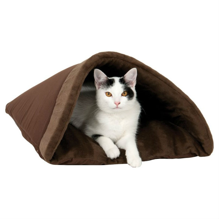 Brown Burrito Kitty Pet Cave Bed Machine Washable Fastfurnishings Com
