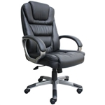 Ergonomic Black Faux Leather Executive Office Chair