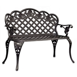 Cast Aluminum Outdoor Garden Bench
