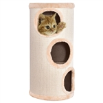 Beige 3 Tier Sleep Spots Condo Cat Tower