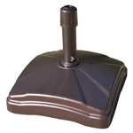Bronze Patio Umbrella Base Up to 125 lbs of Stability Easy to Move Made in USA