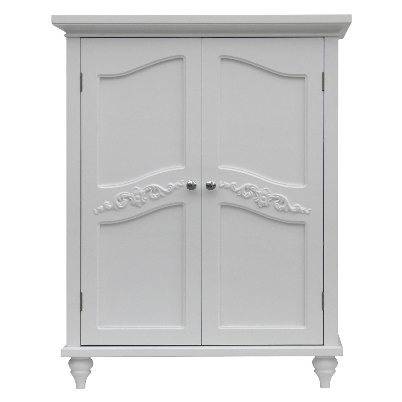 Bathroom Linen Storage Floor Cabinet with 2-Doors in Traditional ...
