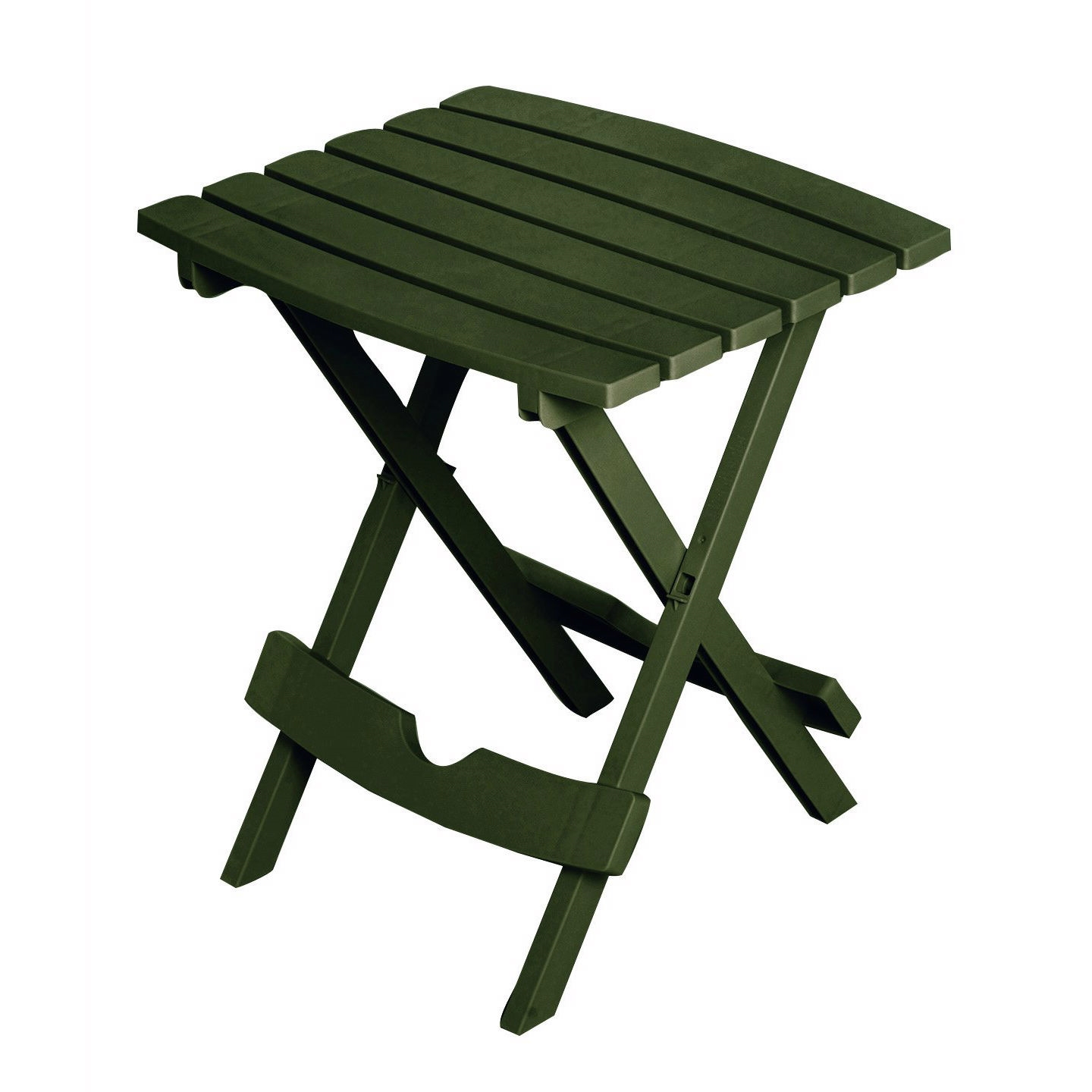 Superbe Folding Outdoor Side Table In Earth Brown Durable Plastic Resin