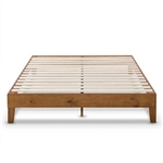 Full size Mid-Century Modern Solid Wood Platform Bed Frame in Natural