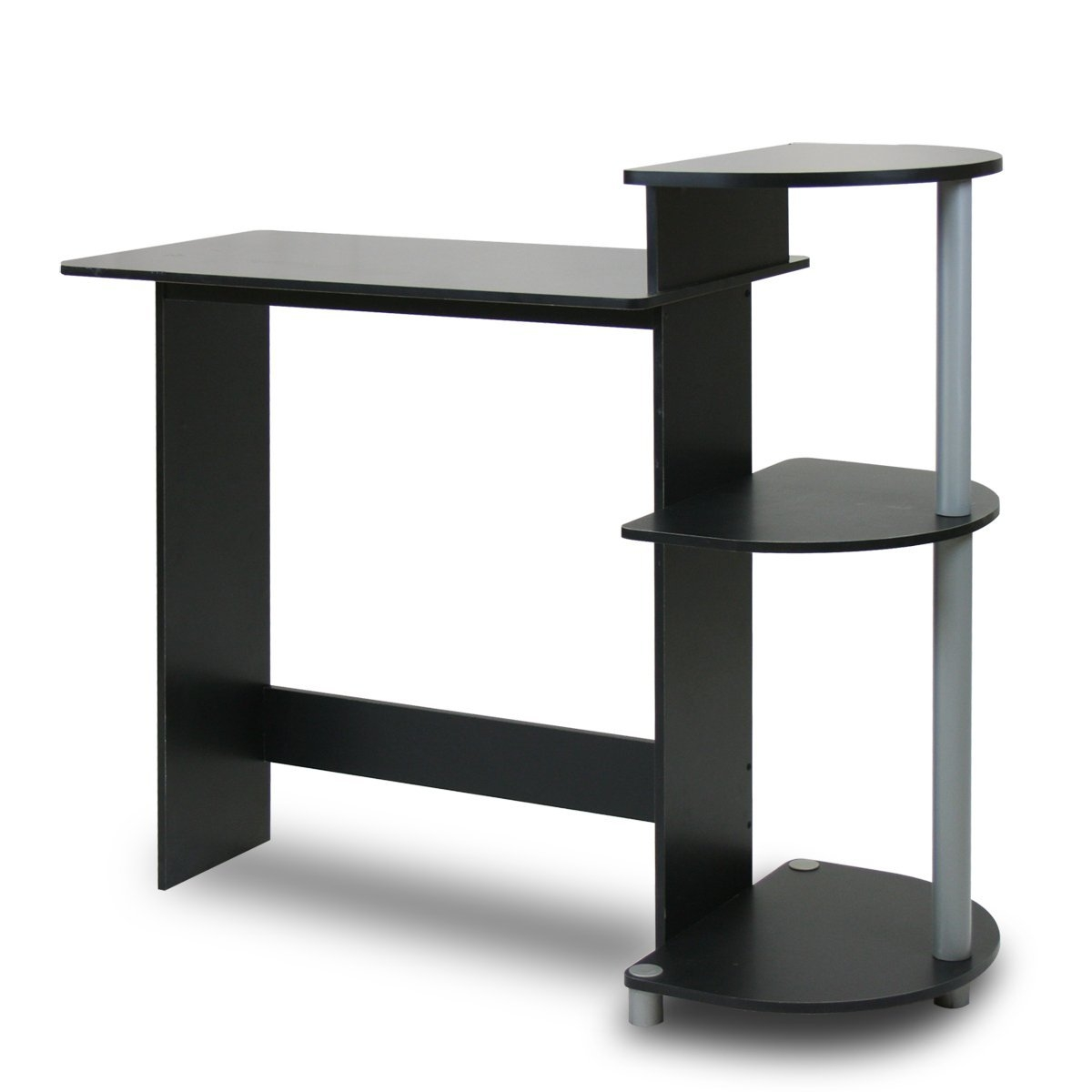 Contemporary Computer Desk In Black And Grey Finish Fastfurnishings