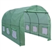 Outdoor 7 x 12 Ft Greenhouse Kit with Steel Frame and Green Cover
