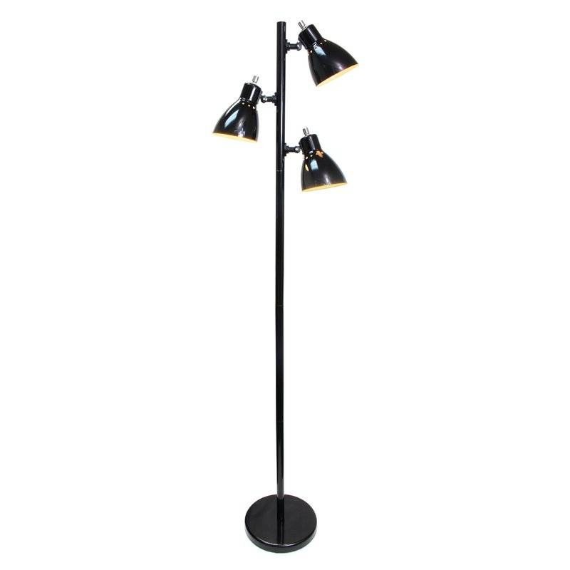 65 Inch Black 3 Light Tree Lamp Spotlight Floor Lamp