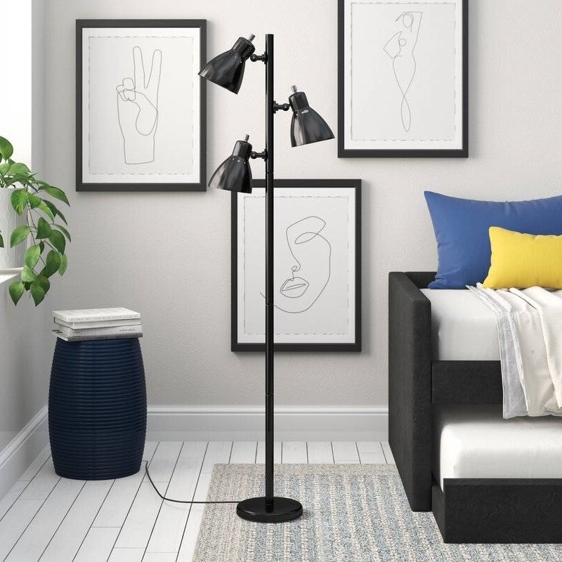 65-inch Black 3-Light Tree Lamp Spotlight Floor Lamp ...