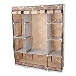 棕色锦缎英寸卧室衣柜壁橱收纳柜