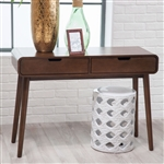 现代经典胡桃木实木控制台桌