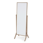 Contemporary Cheval Floor Mirror in Driftwood Finish