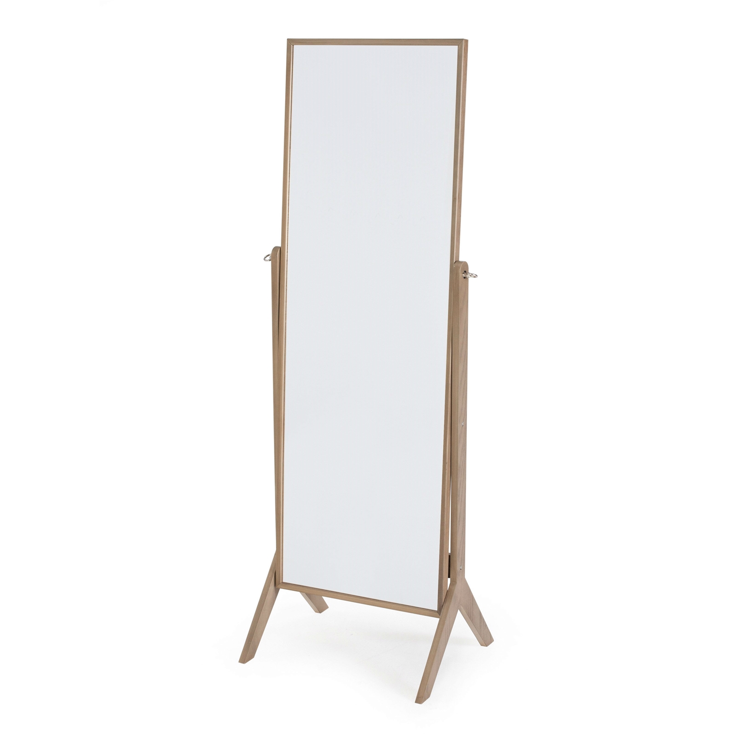 Contemporary Cheval Floor Mirror in Driftwood Finish ...