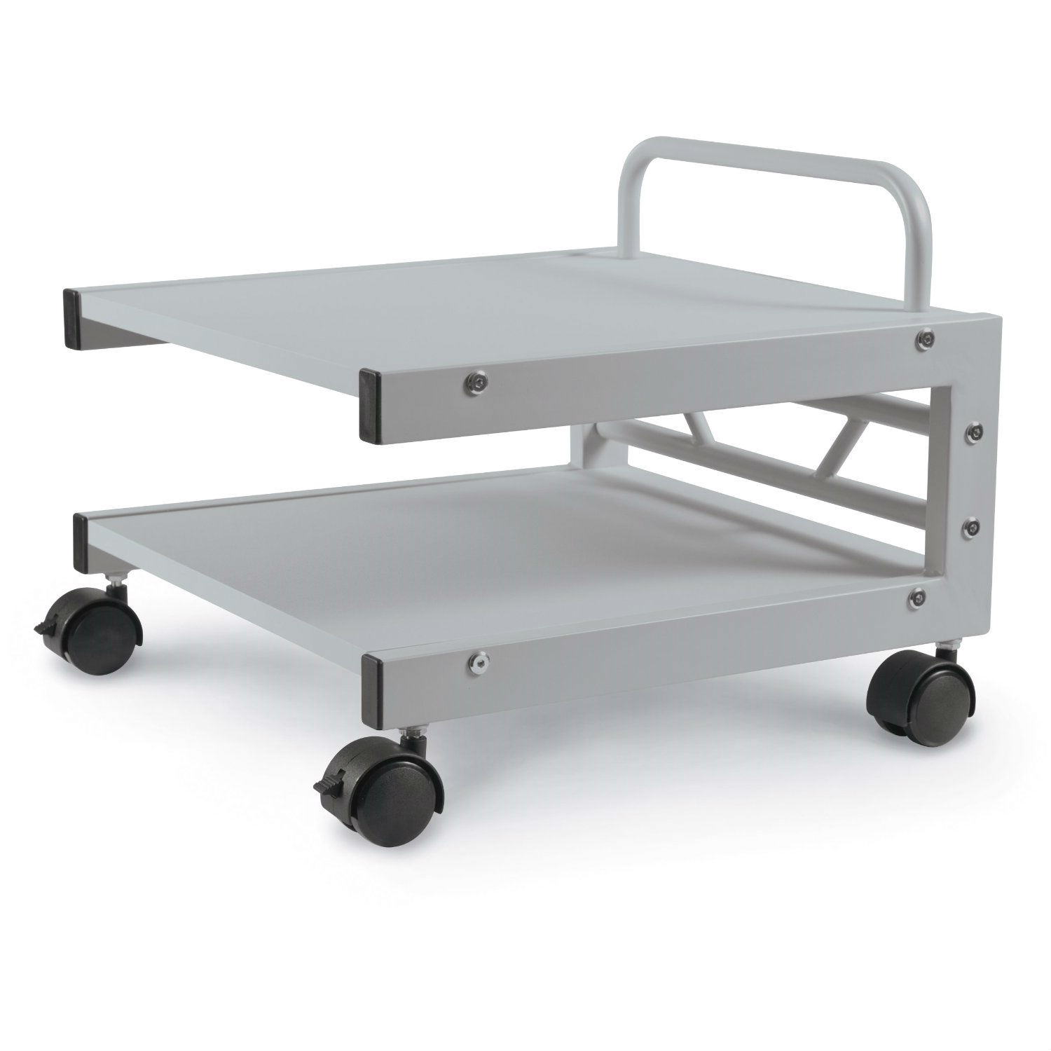 Low Profile Printer Stand With Bottom Paper Shelf And