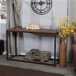带金属框架的实木顶沙发控制台桌