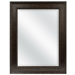 Beveled Rectangular Bathroom Vanity Mirror with Bronze Finish Frame