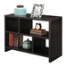 Modern 2-Shelf Bookcase Console Table
