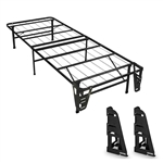 Twin size Metal Platform Bed Frame with 2 Headboard Brackets