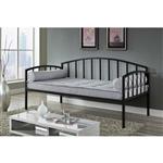 双人现代黑色金属沙发床,可用于卧室或客厅