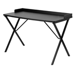 Modern Home Office Writing Table Computer Desk in Black