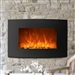 Curved Wall Mount 35-inch Electric Fireplace Heater