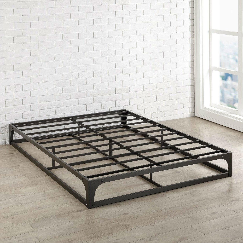 Twin Size Modern Low Profile Heavy Duty Metal Platform Bed Frame