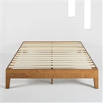 Queen size Mid-Century Modern Solid Wood Platform Bed Frame in Natural