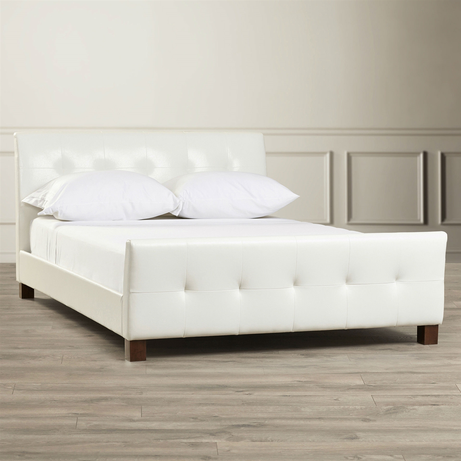 100 white modern platform bed with leather headboard love i