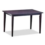 深褐色染色饰面实木橡胶木餐桌