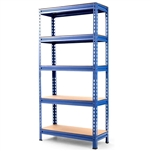Heavy Duty 60 inch Adjustable 5-Shelf Metal Storage Rack in Navy Blue