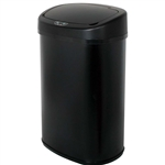 Black 13-Gallon Kitchen Trash Can with Touch Free Motion Sensor Lid