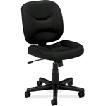 Black Task Chair Office Chair with Padded Seat