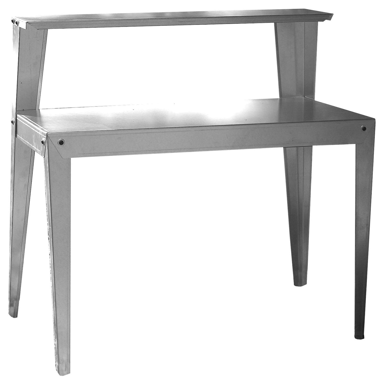 Strange 24 X 44 Inch Galvanized Steel Top Utility Table Workbench Potting Bench Creativecarmelina Interior Chair Design Creativecarmelinacom
