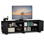 Modern Entertainment Center in Black Wood Finish - Holds up to 60-inch TV